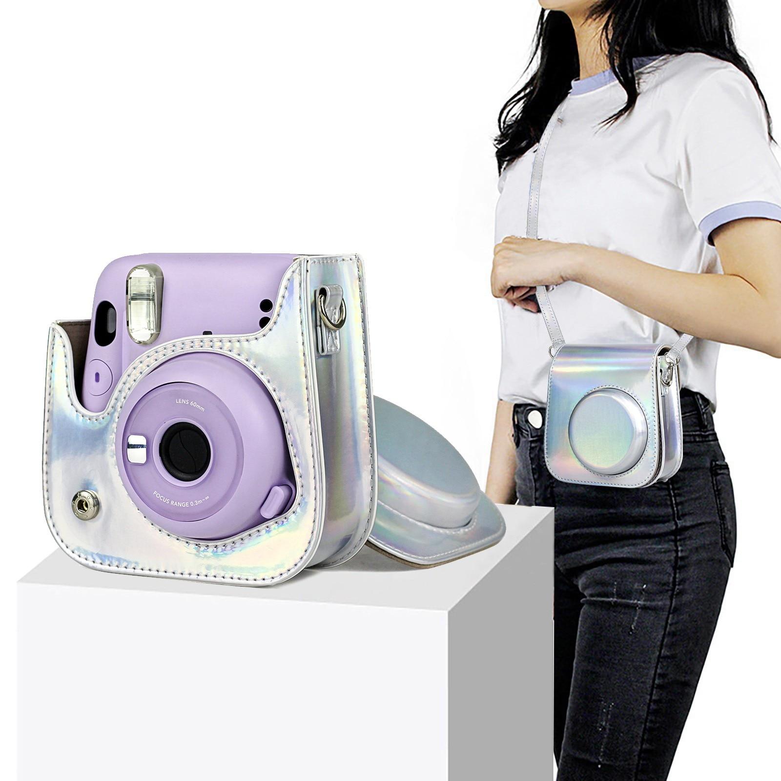 Bolsas protectoras de cuero para cámara Instax Mini 11, Cámara de película...