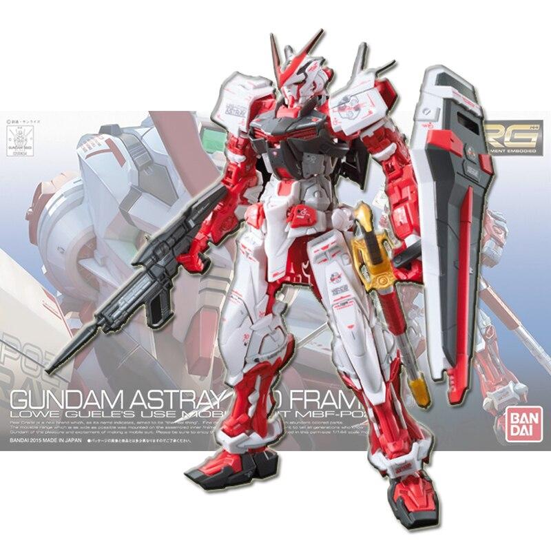Bandai modelo RG 19 1/144, herejía roja Gundam, máquina roja de ensamblaje, figuras de acción Brinquedos, muñecas modelo