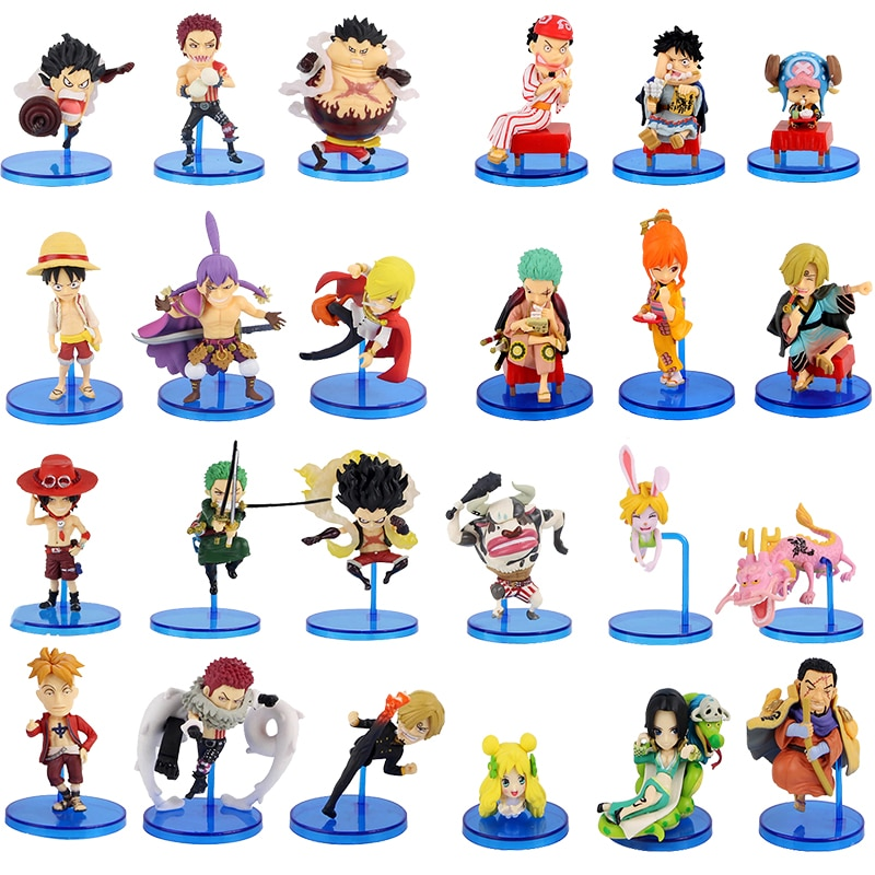 6 unids/set figuras de una sola pieza Luffy Zoro Nami gran mamá Charlotte Issho Hancock Rebeca Marco Zodiac juguetes de modelo Animal colección de PVC
