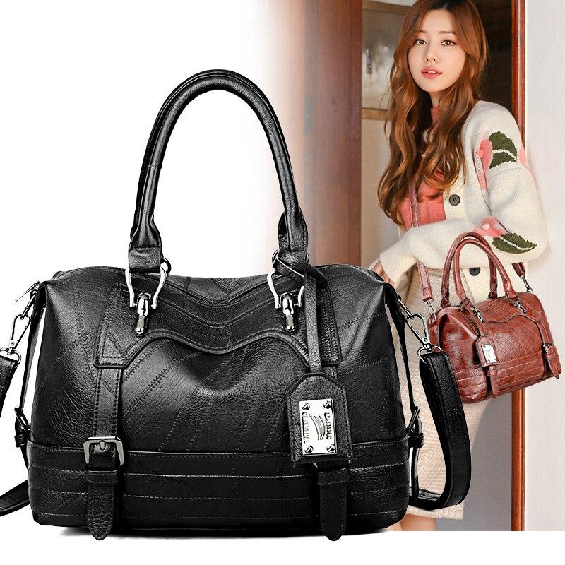 Taschen Frauen 2020 Taschen für Frauen Berühmte Marken PU Leder Mädchen Pendeln Schulter Taschen Casual Krokodil Muster Geldbörsen und Handtaschen