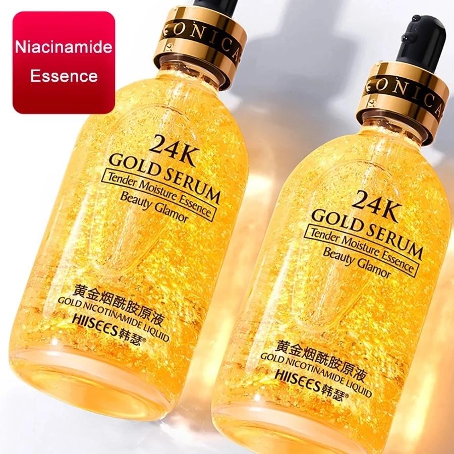 LAIKOU 24k Gold Face Serum Hyaluronic Acid Serum Moisturizer Essence Cream Whitening Day Creams Anti Aging Anti Wrinkle Acne Art