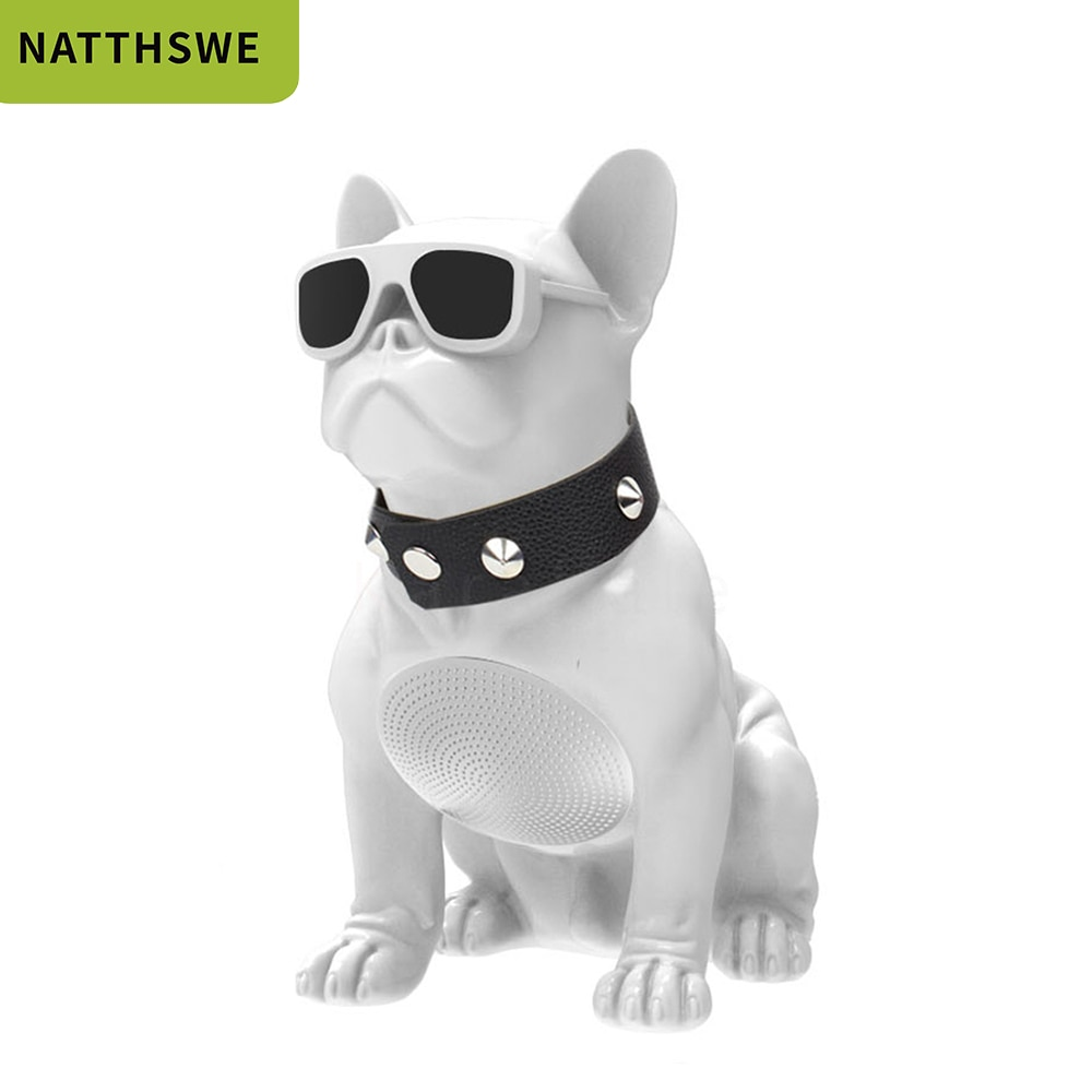 NATTHSWE Wireless Speaker Small Bulldog Bluetooth Aerobull Nano Outdoor Portable Bass