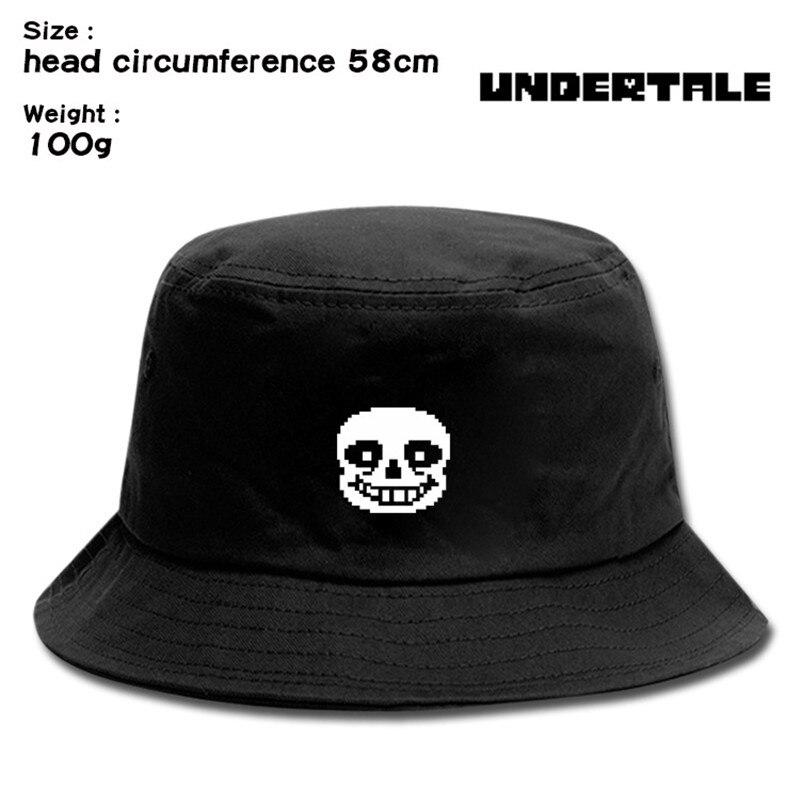 Undertale Sans crâne coeur Anime pêcheur chapeau chapeau hommes femmes en plein air utilisation quotidienne Cosplay toile