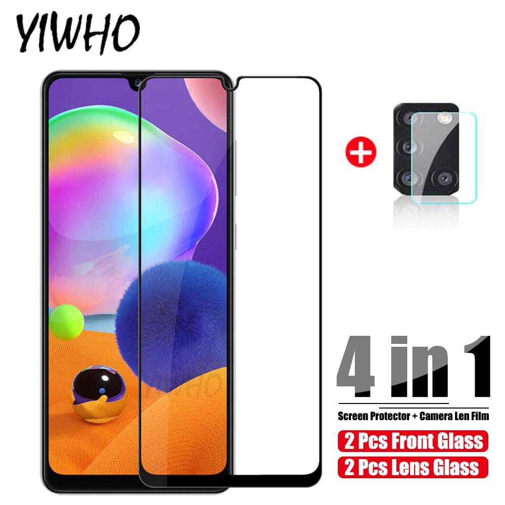 2 em 1 vidro temperado para samsung a21s vidro na galáxia a21 a20 a31 a30 a30s câmera len protetor de tela película protetora vidrio