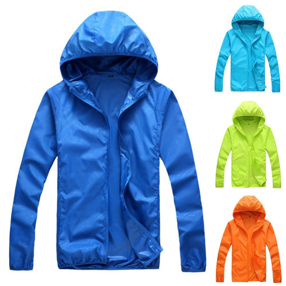 60%HOTWomen Men Summer Long Sleeve Hooded Windproof Sun Protection Coat Fishing Jacket