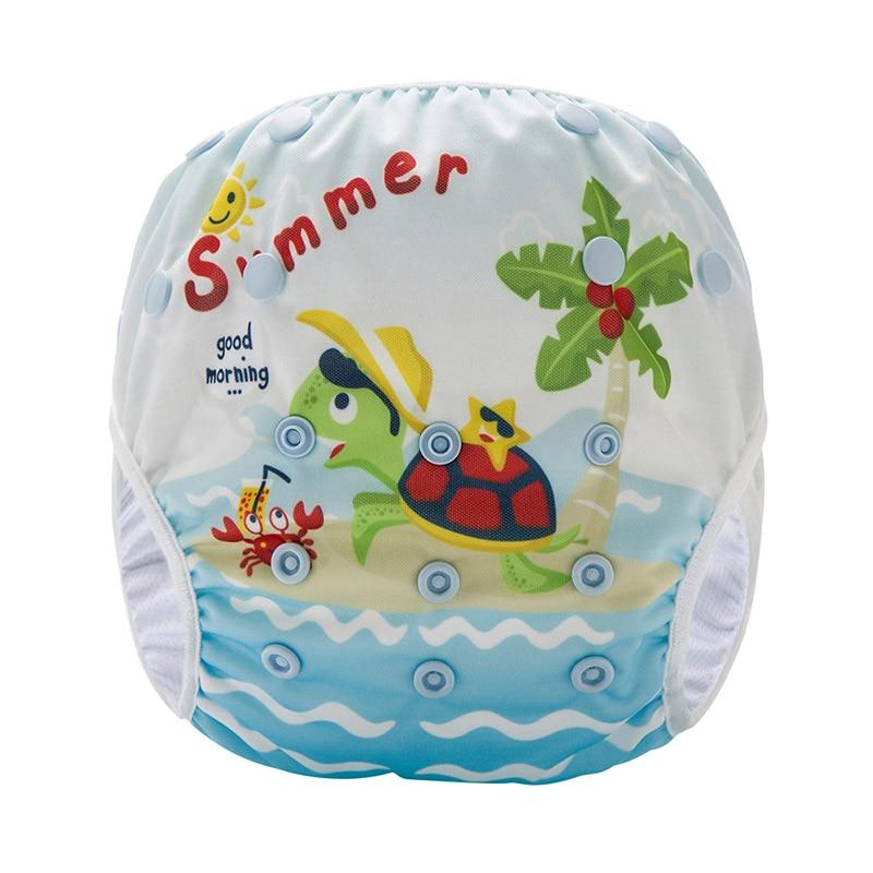 Pañal de natación reutilizable para bebé PUL impermeable cómodo paño de natación para bebé SM-DY3