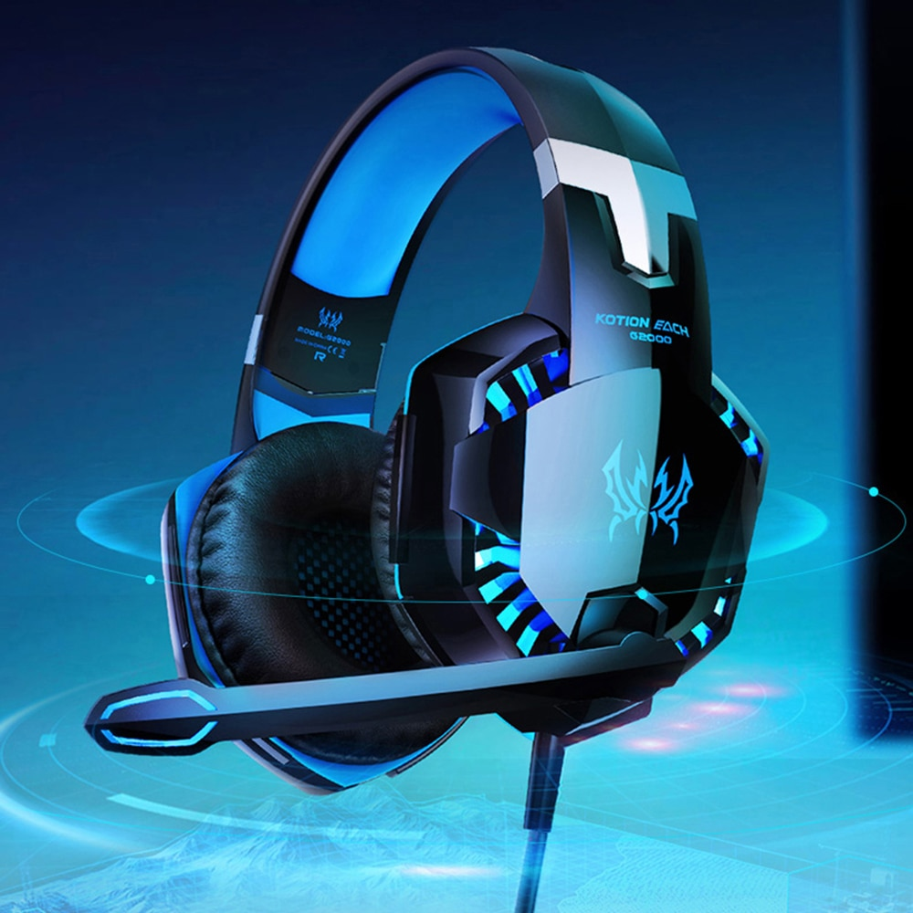 G2000 Gaming Headset  Set Deep Bass Stereo Casque Wired Headphone Gamer Earphone with Microphone for