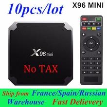 10 pièces/lot X96mini Smart TV BOX X96 Mini Android 7.1 2 GB/16 GB Amlogic S905W Quad Core 4K 30tps 2.4GHz WiFi boîtiers décodeur