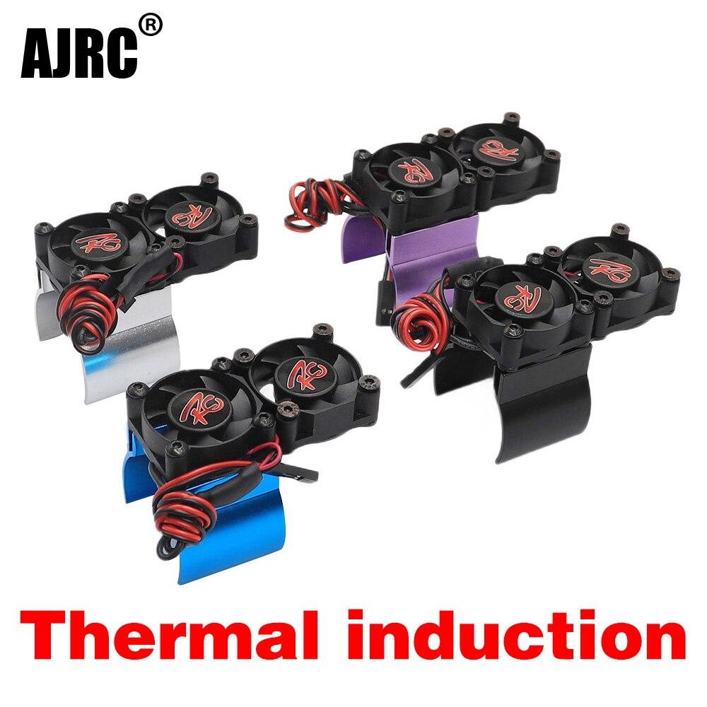 Piezas de control remoto del motor radiador + 110 HSP TRX-4 TRX-6 SCX10 RC 540 36MM 550 tamaño de motor radiador inducción térmica ventilador de refrigeración dual