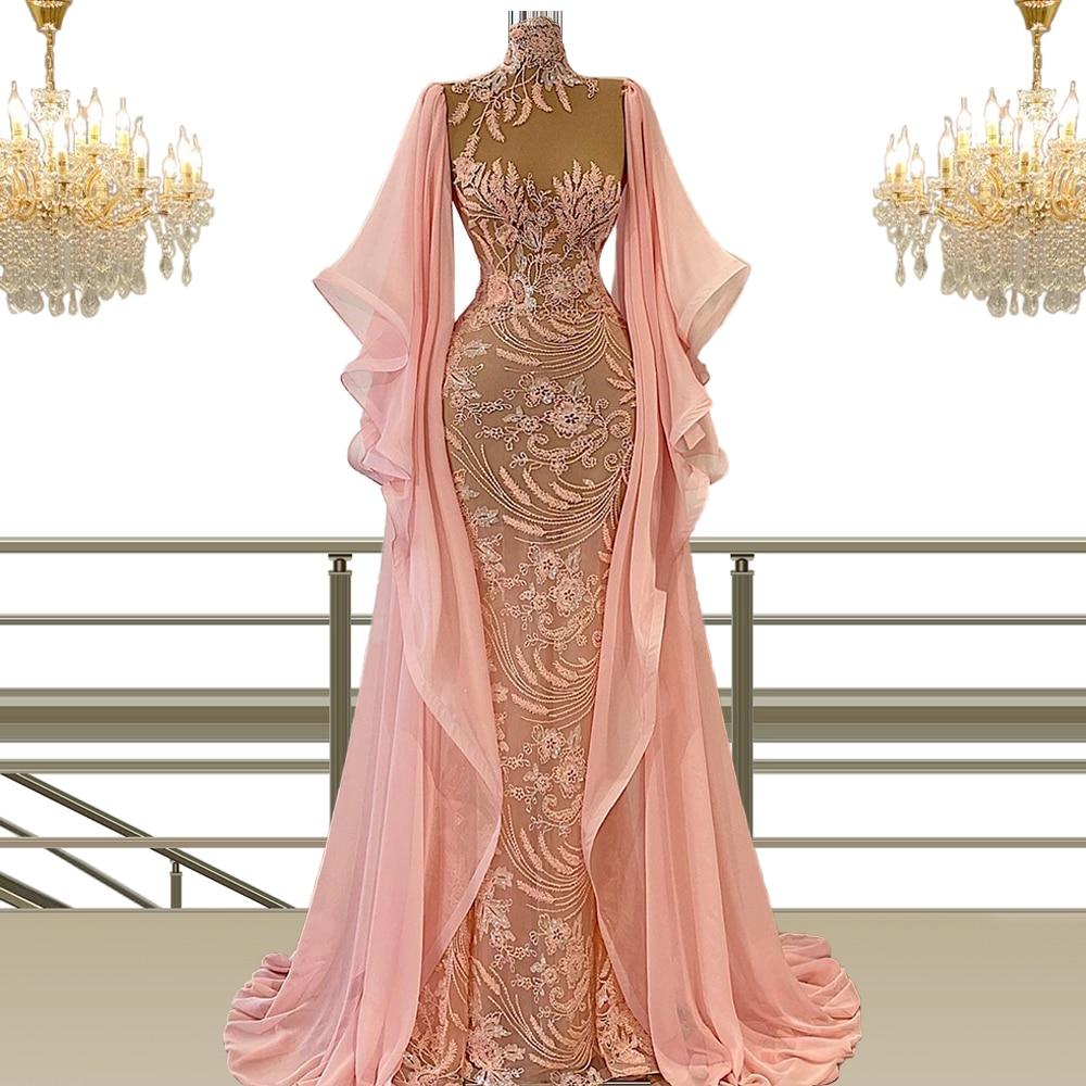 فساتين سهرة 2021 ملابس المشاهير فستان طويل للنساء للحفلات رداء رسمي نسائي Abendkleider Vestidos De Noite Dubai CXF48