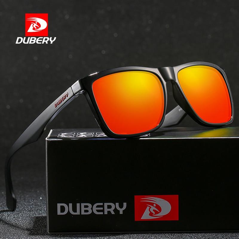 Солнцезащитные очки DUBERY D150 мужские, квадратные поляризационные темные очки с защитой от ультрафиолета, зеркальные, для вождения, летние