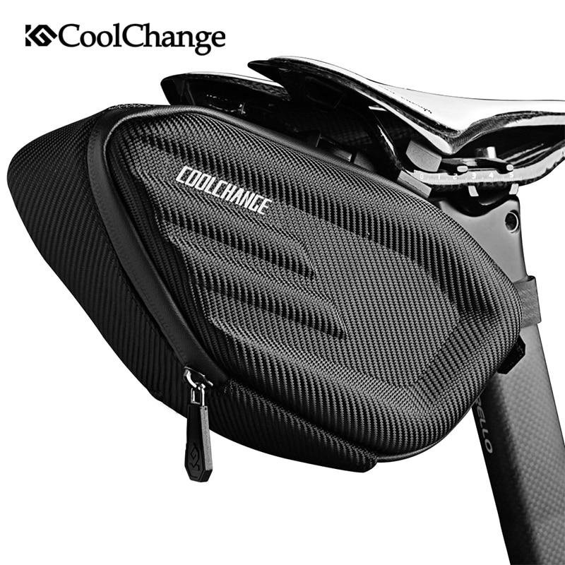 Сумка-седло CoolChange для велосипеда, водонепроницаемая задняя Сумка для горного велосипеда, светоотражающая велосипедная сумка для заднего с...