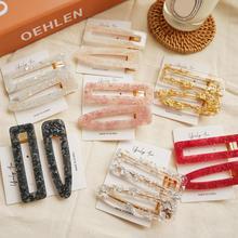 Barrettes acryliques pinces à cheveux en cristal pour les femmes mode Simple géométrique épingles à cheveux accessoires de cheveux coiffure filles bijoux de cheveux