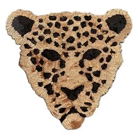 sequins large tiger badge embroidery cloth patch sticker clothing accessories bag decoration iron on patches for clothing