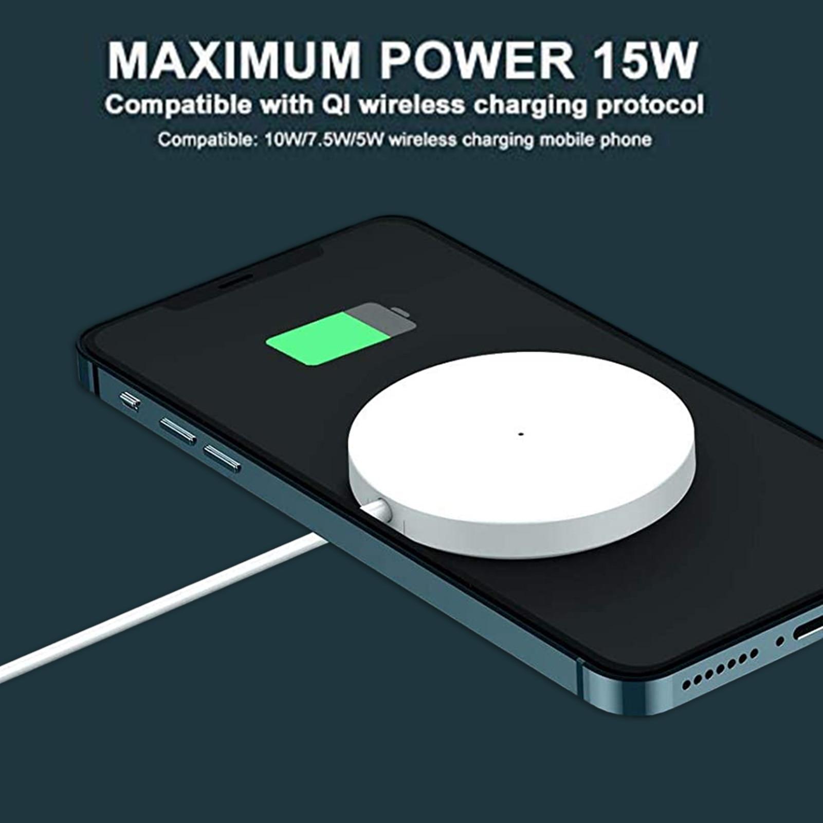 15w magnético branco carregador sem fio 15w para iphone 12 pro max mini carregamento rápido para magsafe carregador sem fio rápido para xiaomi