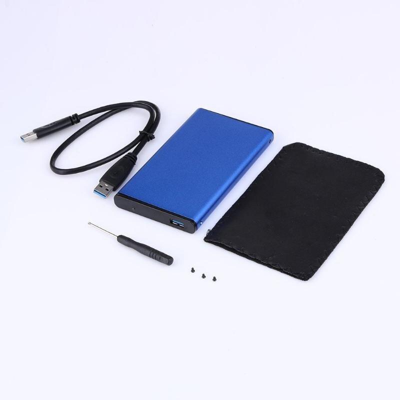 Caja de disco duro SATA nueva USB 3,0 SATA 2.5in Super Speed HDD carcasa de disco duro externo con Cable para Windows Mac OS