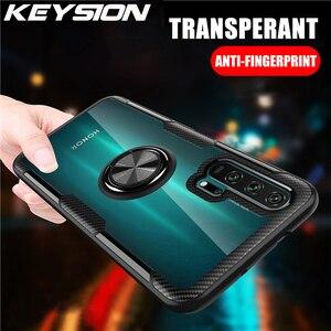 Прозрачный чехол KEYSION с кольцом для Honor 20 Pro 10i 10 Lite 8X Nova 5T 4e, противоударный чехол для телефона Huawei P40 Pro P30 Lite P20