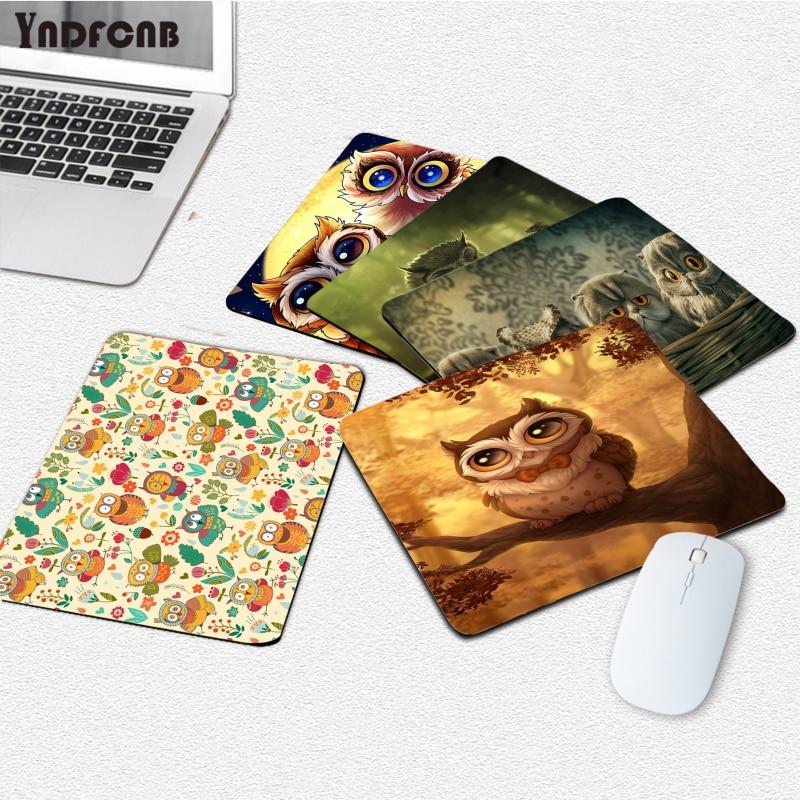 YNDFCNB Новые поступления, забавная сова, животные, ноутбук, игровая мышь, коврик для мыши, гладкий коврик для письма, настольные компьютеры, Мат...