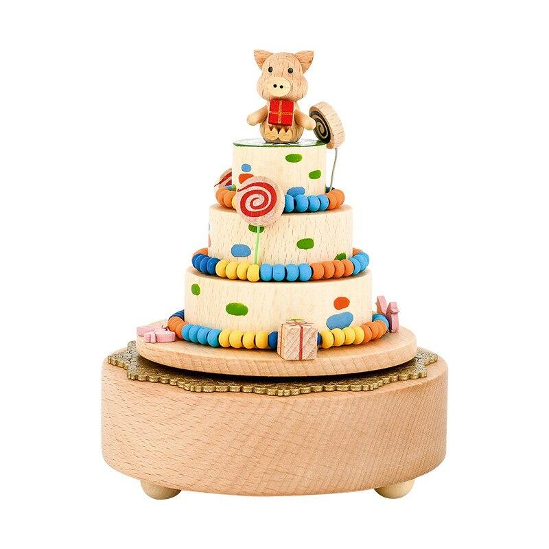 Caixa de Música Cidade de Madeira Presente de Aniversário Caixa de Madeira Dia dos Namorados Artesanal Amor Casamento Ano Novo Natal Carrossel Céu 2021