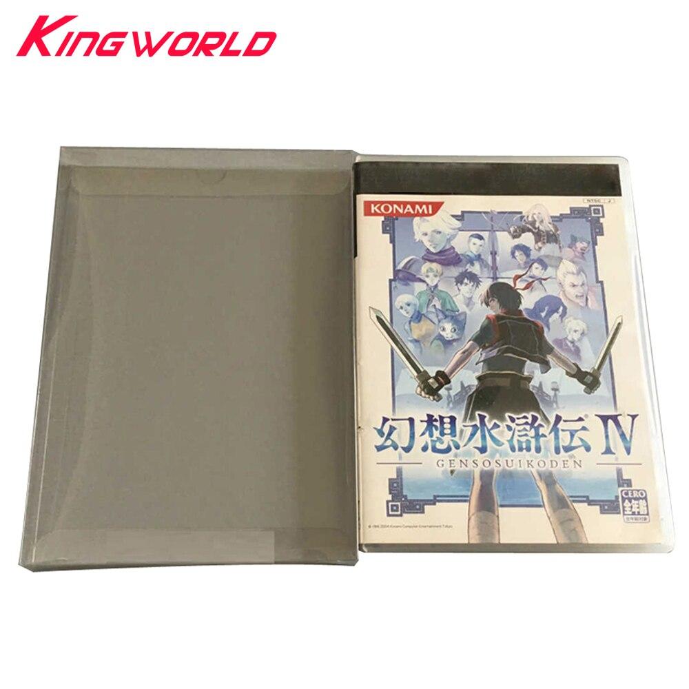 100 Uds. Caja de exhibición transparente para Playstation PS2 caja de almacenamiento de colección de tarjetas de juego caja protectora para mascotas