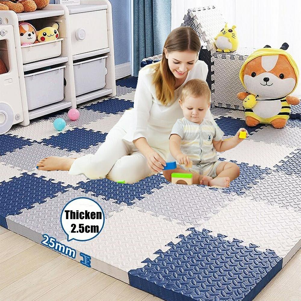 Толстый детский коврик-пазл 2,5 см, игровой коврик, Детские сцепляющиеся плитки для упражнений, коврики, напольные плитки, игрушечный коврик, ...