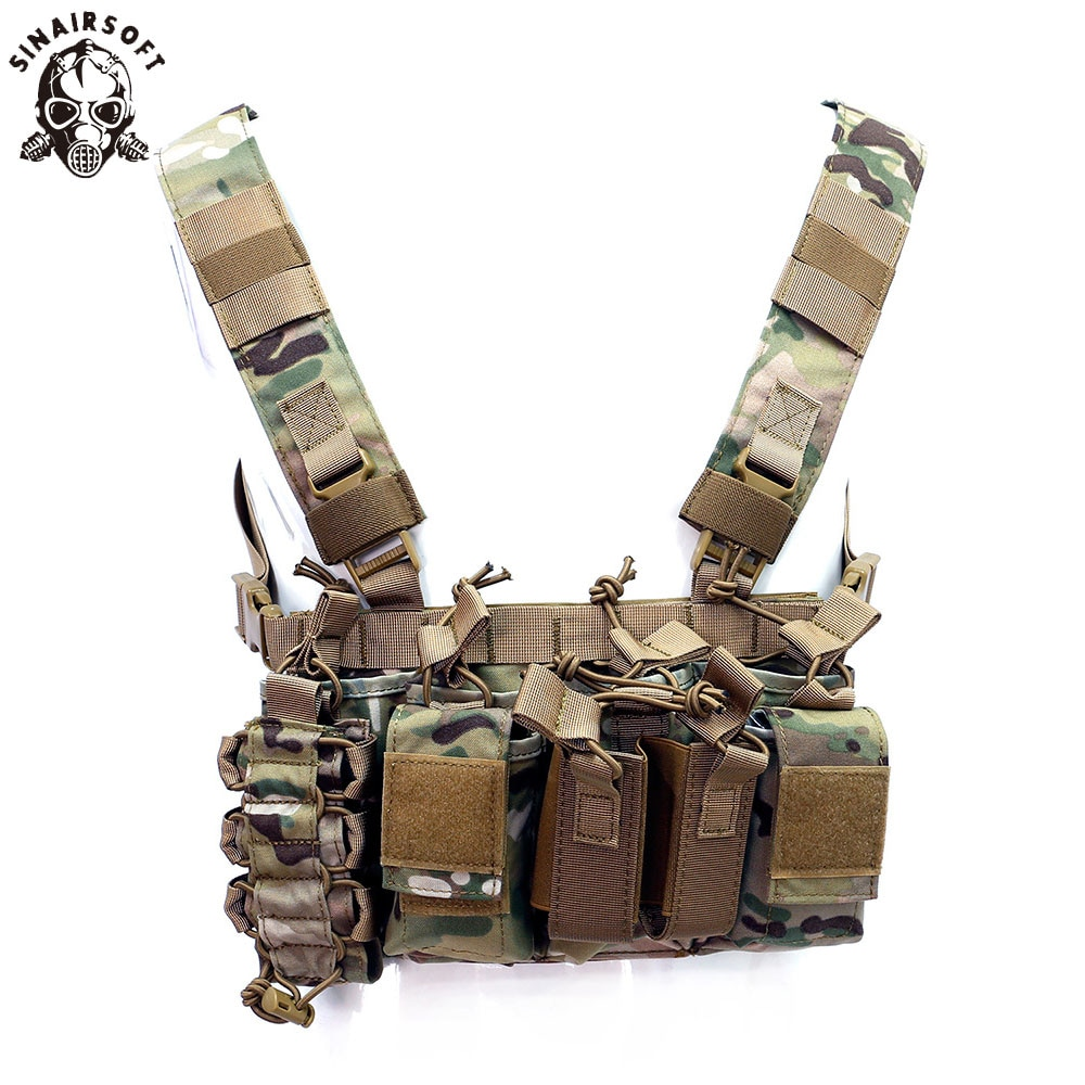 D3 chaleco táctico pecho aparejo paquete bolsa combate Paintball Multi-Bolsillo ligero Nylon exterior Camping senderismo Accesorios