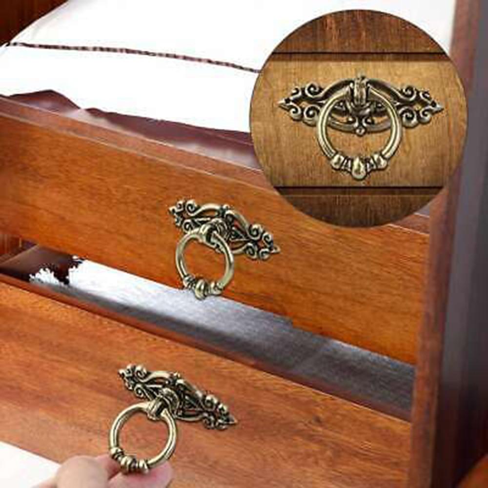 10 Uds Vintage gabinete alacena aparador puertas anillo para cajón tira conjunto de manijas perillas