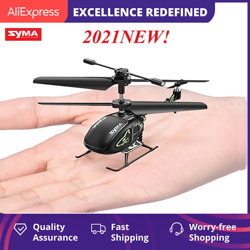 Top SYMA S100 Original Mini RC Intelligent Fixed Height Helicopter Children's Toy Unmanned Aerial Vehicle Toy Gift 2021 NEW