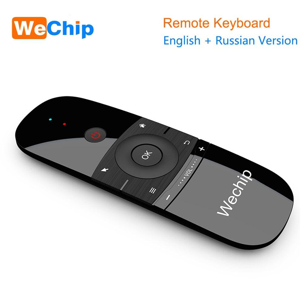 Neue Original Wechip W1 Tastatur Maus Wireless 2,4G Fly Air Maus Rechargeble Mini Fernbedienung Für Android Tv Box /Mini Pc/Tv