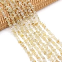 natural citrines beads irregular freeform chip gravel stone beads for jewelry making necklace bracelet 3x5 4x6mm length 40cm