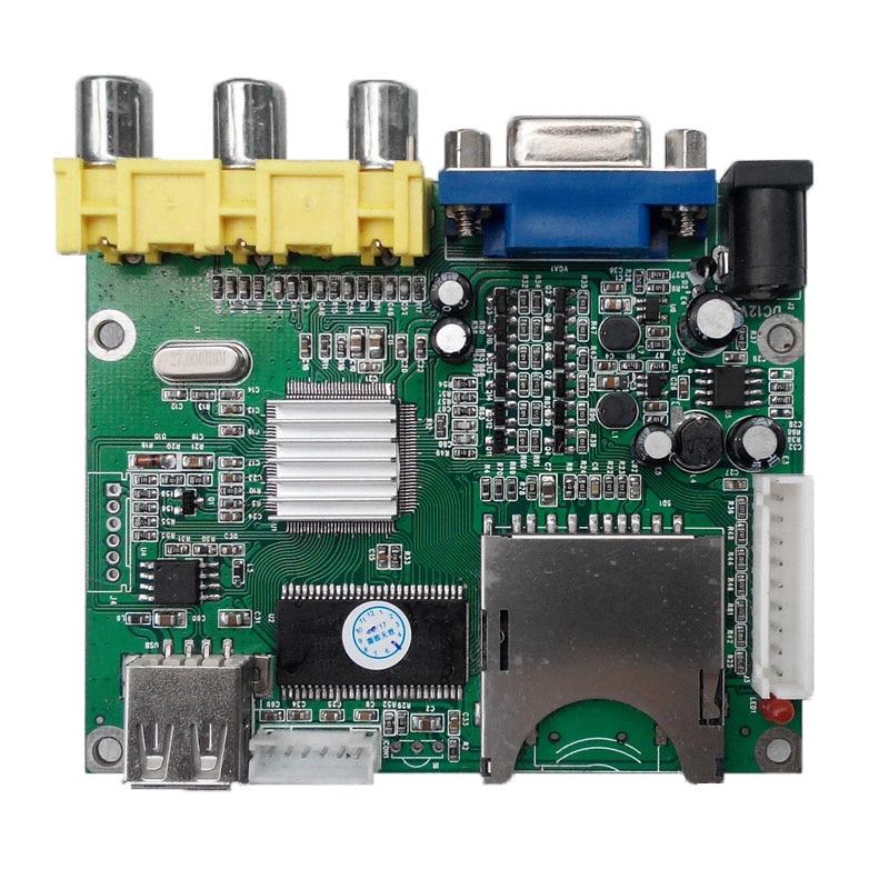 لوحة مشغل MP5 أصلية عالية الدقة ، وحدة فك ترميز فيديو MP4 ، VGA ، تحكم MCU ، وحدة صوت MP3