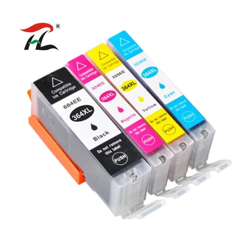 4pc 364XL Compatible Ink Cartridge for HP364 xl Photosmart for hp 364 5520 5524 6510 6520 7510 B109 B110 B209 B210 C309 Printer