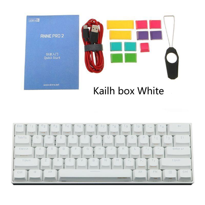 27RA 60% لوحة المفاتيح الميكانيكية بلوتوث 4.0 Type-C RGB 61 مفاتيح لوحة مفاتيح الألعاب الميكانيكية Kailh صندوق التبديل