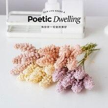 Fleurs artificielles haute simulation blé oreille riz petit bouquet frais soie fleur plastique fleur arrangement fleur