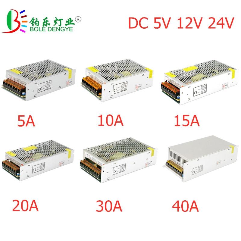 LED Power Adapter Lighting Transformer AC 100V-240V To DC 5V 12V 24V Switching Power Supply 1A 2A 3A