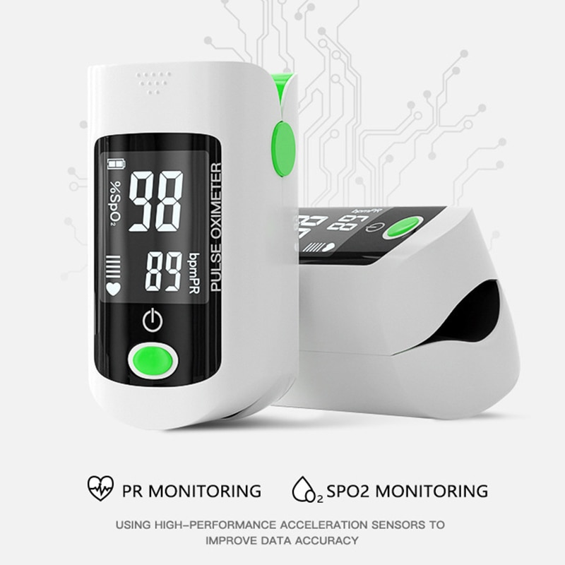Fingertip pulse oximeter SpO2 PR Oxymeter OLED Heart Rate meter Blood oxygen Saturation monitor Household health Care Monitors