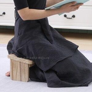 Folding Wood Meditation Stool Kneeling Stools for Meditation Japanese Style Tea Stool Wooden Low Bench Ottoman Pouf