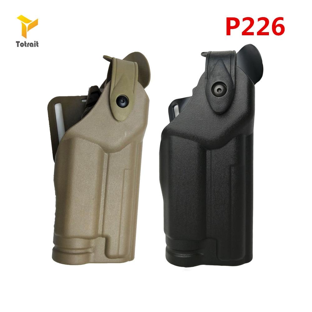 TOtrait Tactical Holster for Sig Sauer P226 SP2022 With Flashlight Waist Belt Gun Holster Airsoft Hunting Gun Case Black Color