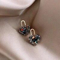 new korean statement earrings for women black cute arcylic geometric dangle drop gold earings brincos 2020 fashion jewelry