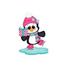 Noel penguen Metal kesme birlikleri Scrapbooking Nuevos kesim kart yapımı yeni kalıplar 2019
