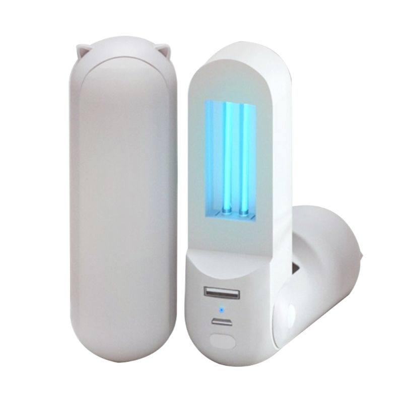 Portable UV Light Sanitizer Wand Handheld Disinfection USB Lamp Power Bank Lovely Design for Home Office Travel Use
