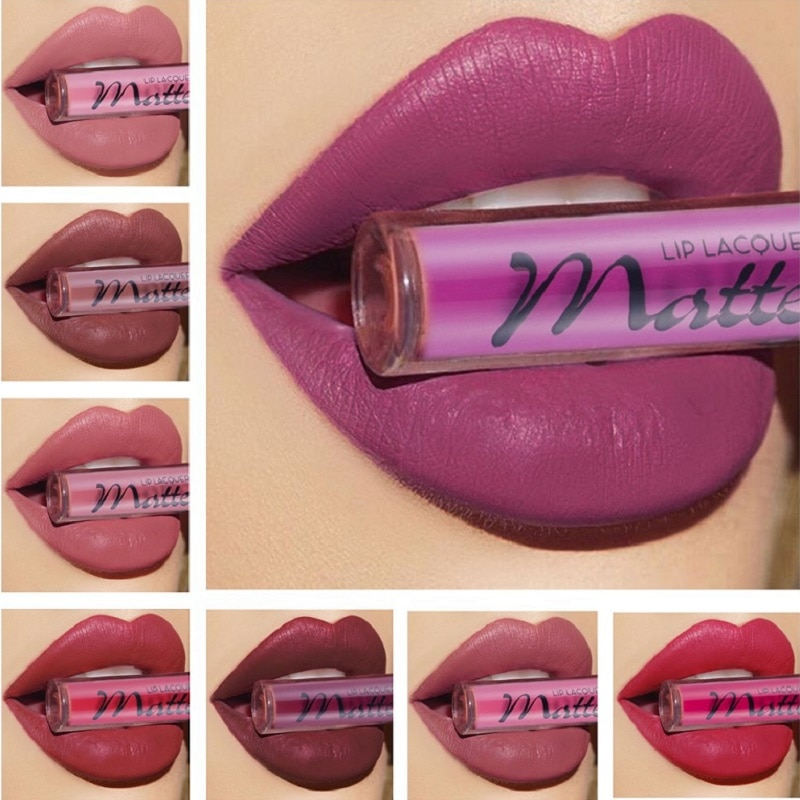 Makeup Matte Lipgloss Sexy Red Lip Liquid Gloss Waterproof Long Lasting Matte Lipstick Nude Lipgloss Cosmetics Liquid Lipstick недорого