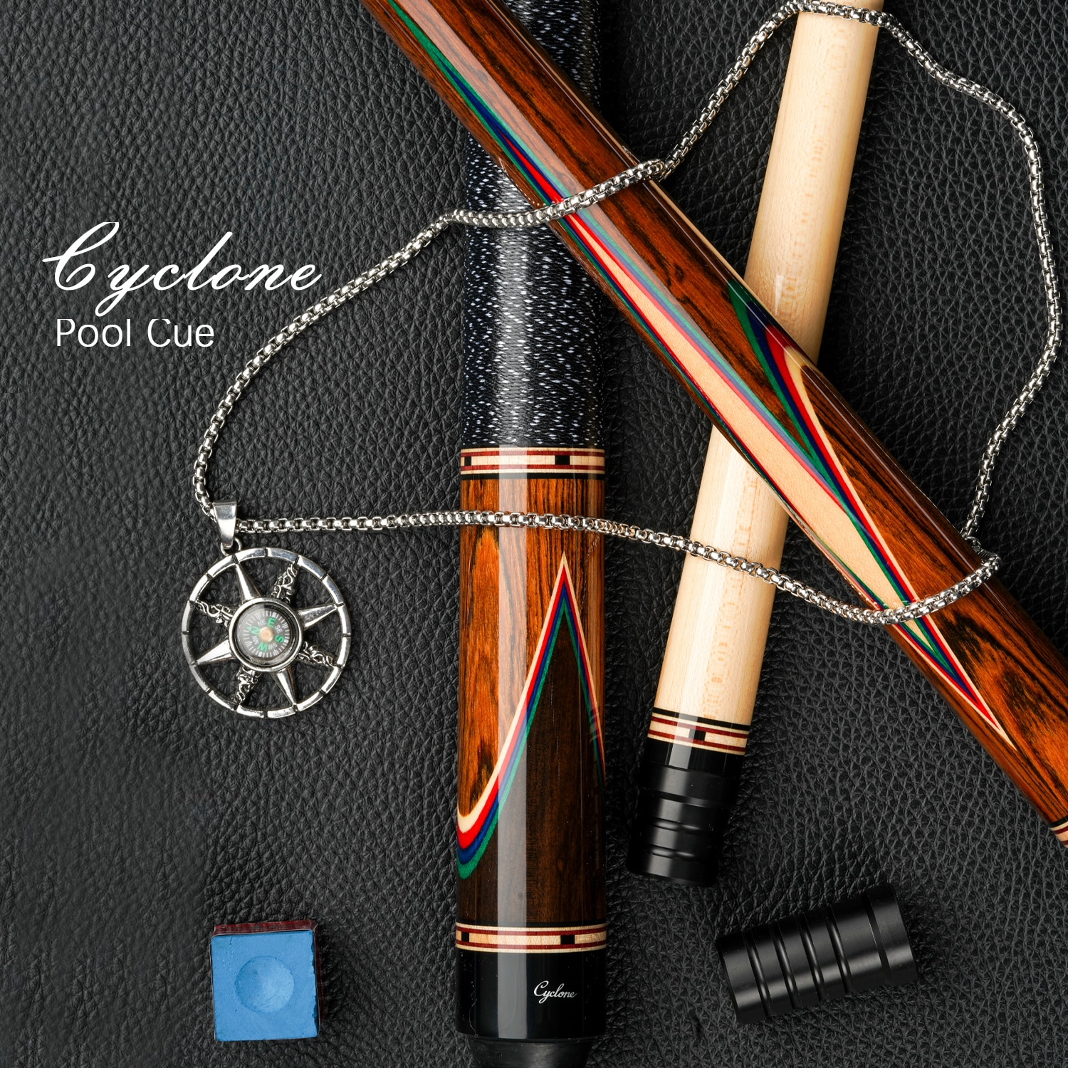 Cyclone-7 Billiard Cue Stick Inlaid Carving Cue 13mm Tip 3*8/8 Radial Pin Handmade Professional Cue By FURY Factory Manufacture