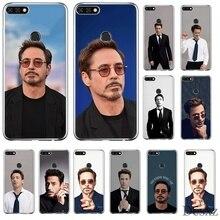Mobile Phone Case for Huawei P30 P20 P10 P8 P9 Lite Pro P Smart Z Plus Cover TPU Cartoon Robert Downey Jr