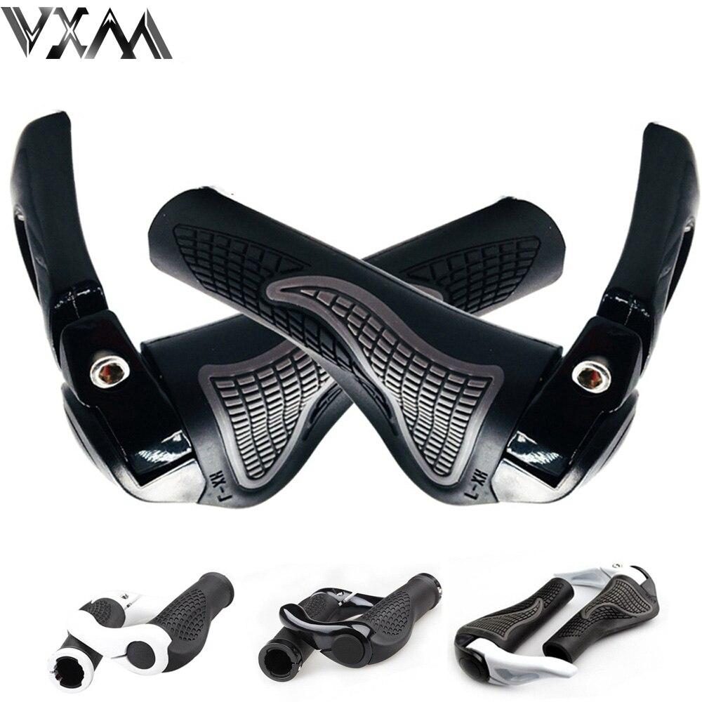 VXM-empuñaduras de manillar de goma y aluminio para bicicleta de montaña, manillar de bicicleta con cerradura, mangos de presión, piezas suaves para bicicleta