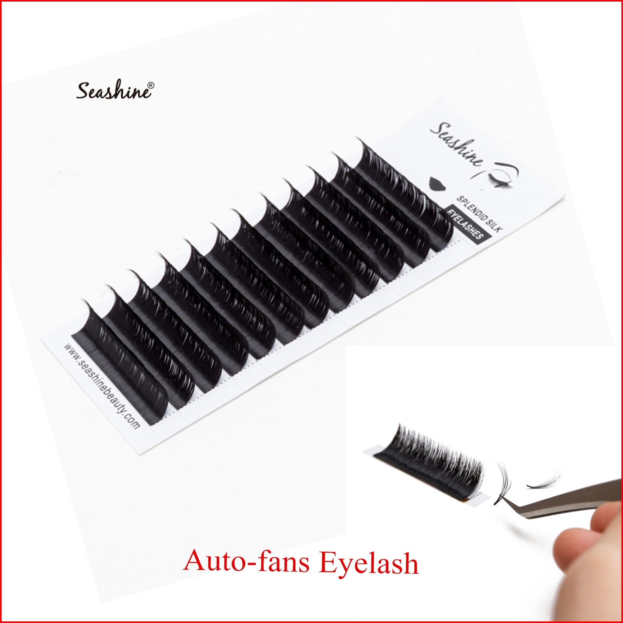 Seashine Easy Fanning Auto Fans Eyelash Extension Fast Bloom Flowering Mega Volume Lashes Pre-bonded Eyelash