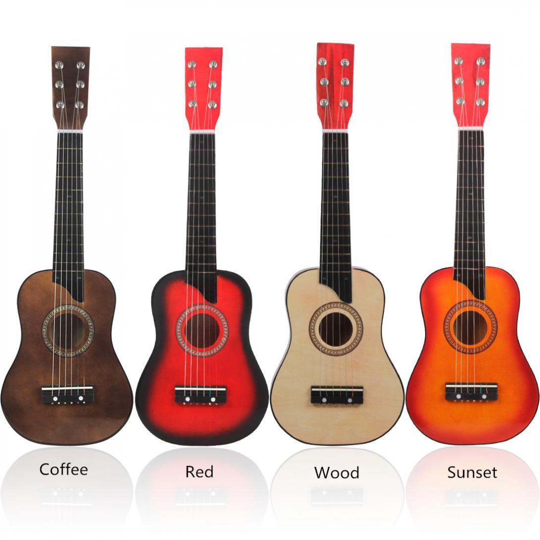Guitar 25 Inch Basswood Acoustic Guitar with Pick Strings Big  Guitar for Children and Beginner Guitar Set enlarge