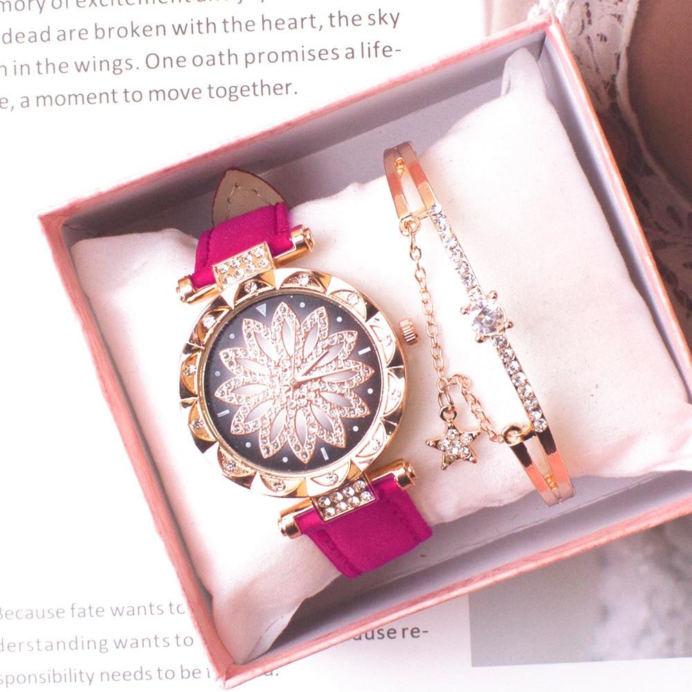 Женские наручные часы 2020, наручные часы со звездным небом, женские повседневные кварцевые наручные часы с кожаным ремешком, женские часы