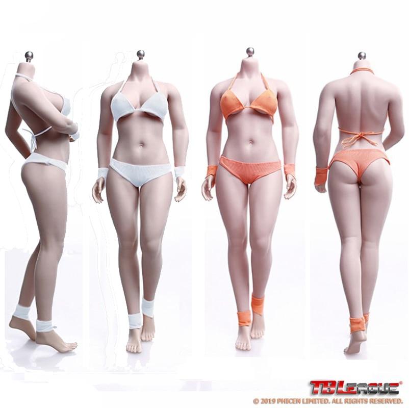 """Tbleague phicen phmb2019 s28a & s29b 1/6 escala europa feminino pálido & bronzeado busto médio sem costura corpo flexível 12 """"figuras brinquedos"""