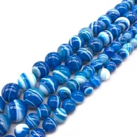 aaa natural blue stripes agates dzi stone beads loose round beads 6 8 10 12mm for jewelry making diy necklace bracelet